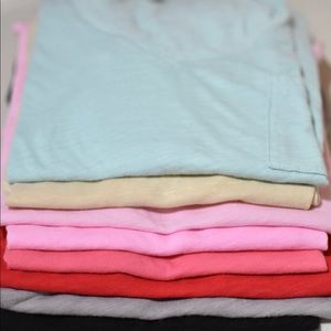 8 Bundle J crew madewell vintage cotton v neck tee